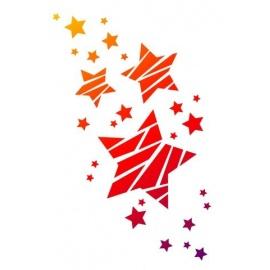 Šablona na textil A4 - Hvězdy
