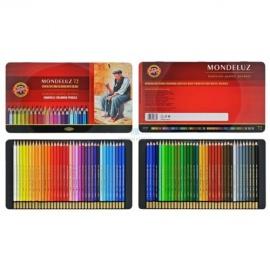 Souprava akvarelových pastelek Mondeluz 72 ks - plech