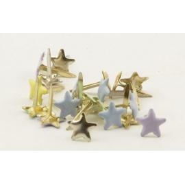 Hřebíčky 20 ks - pastelové hvězdičky