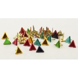 Hřebíčky 20 ks - metalické trojúhelníky