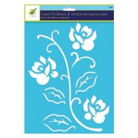 Šablona na textil A4 - květina