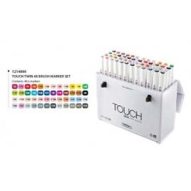 Touch marker 48 ks barevných odstínů - štětcové