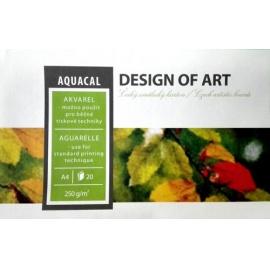 Aquacal blok 250 gr/m2 - A4