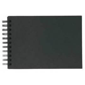 Kroužkový blok DE LUX - 21*21 cm - černý papír