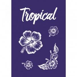 Sítotisk šablona My style A5 - tropical