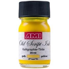 Kaligrafický inkoust - Old script Ink 35 ml - žlutý