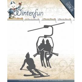 Vyřezávací šablona - lyžaři