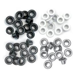 Průchodky kovové černo-bílé