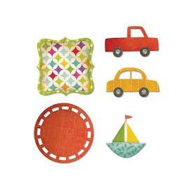 Vyřezávací šablona auta a visačky