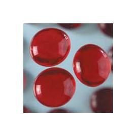 Nugety sklo 100gr- červená 18-20 mm
