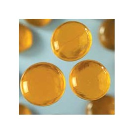 Nugety sklo 100gr- žlutá 18-20 mm