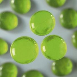 Nugety sklo 100gr- sv. zelená 13-15 mm