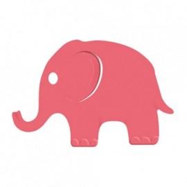 Výsekový strojek s plastickým vzorem - slon 32 mm
