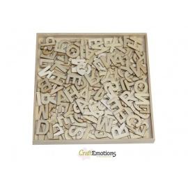 Sada dřevěných výřezů abeceda III