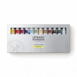 Sada olejových  mistrovských barev Lefranc 12*20 ml