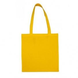 Bavlněná taška 38*42- žlutá dlouhé ucho