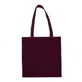 Bavlněná taška 38*42- vínová dlouhé ucho