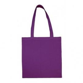 Bavlněná taška 38*42- fialová dlouhé ucho