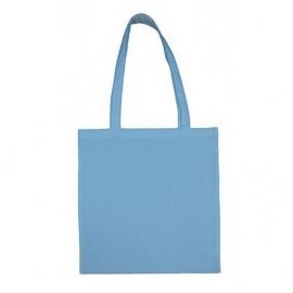Bavlněná taška 38*42- světle modrá dlouhé ucho