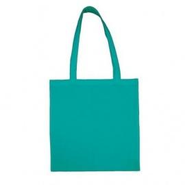Bavlněná taška 38*42- tyrkysová modrá dlouhé ucho
