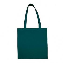 Bavlněná taška 38*42- petrolejová dlouhé ucho