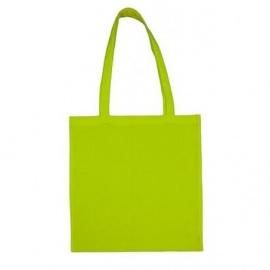 Bavlněná taška 38*42- limetková dlouhé ucho