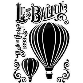 Šablona vzdušný balon A4