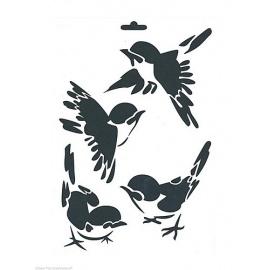 Šablona vrabčáci  A4