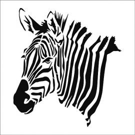 Šablona zebra  A4