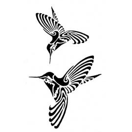 Šablona kolibřici  A4