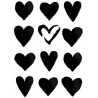 Šablona srdce 20*25 cm