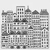 Šablona 30*30 cm - město