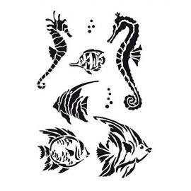 Šablona rybičky A4