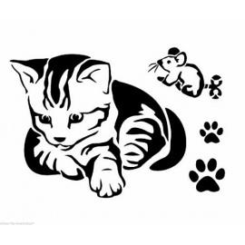 Šablona kočička A4