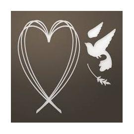 Vyřezávací šablona srdce