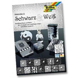Papíry na scrapbook A4 - černobílé
