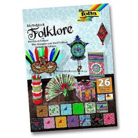 Papíry na scrapbook A4 - folklor