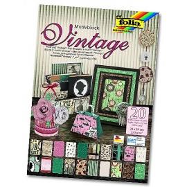 Papíry na scrapbook A4 - vintage 2