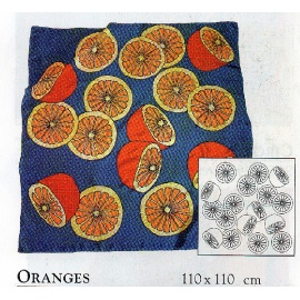 Gutta šátek P5 110*110 - pomeranče