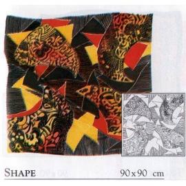 Gutta šátek P5 90*90 cm - Tvary