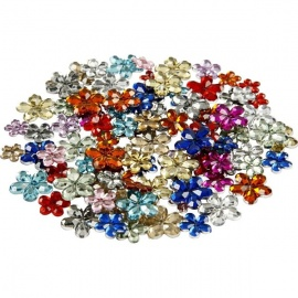 Nalepovací kamínky květinky 30 gr