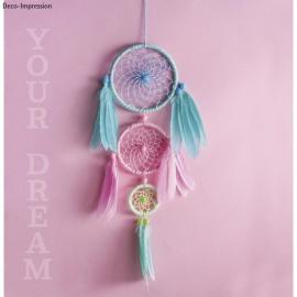 set - polotovar pro lapač snů pastelový