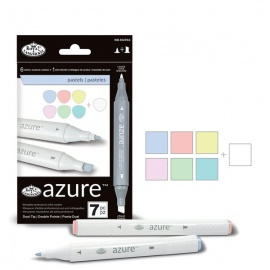 Color markers set pastel - 6 ks