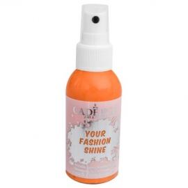 Spray na textil 100 ml - krycí perleťový - oranžový