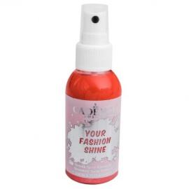 Spray na textil 100 ml - krycí perleťový - jahodový