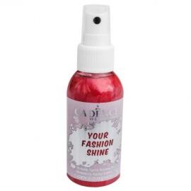 Spray na textil 100 ml - krycí perleťový - červený