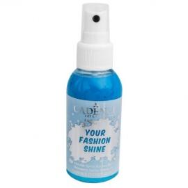 Spray na textil 100 ml - krycí perleťový - světle modrý