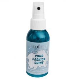 Spray na textil 100 ml - krycí perleťový - petrolejový