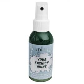 Spray na textil 100 ml - krycí perleťový - tmavě zelený