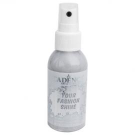 Spray na textil 100 ml - krycí perleťový - stříbrný